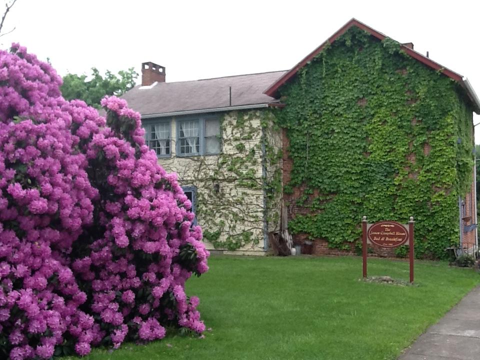 house with flowers — indiana county tourist bureau