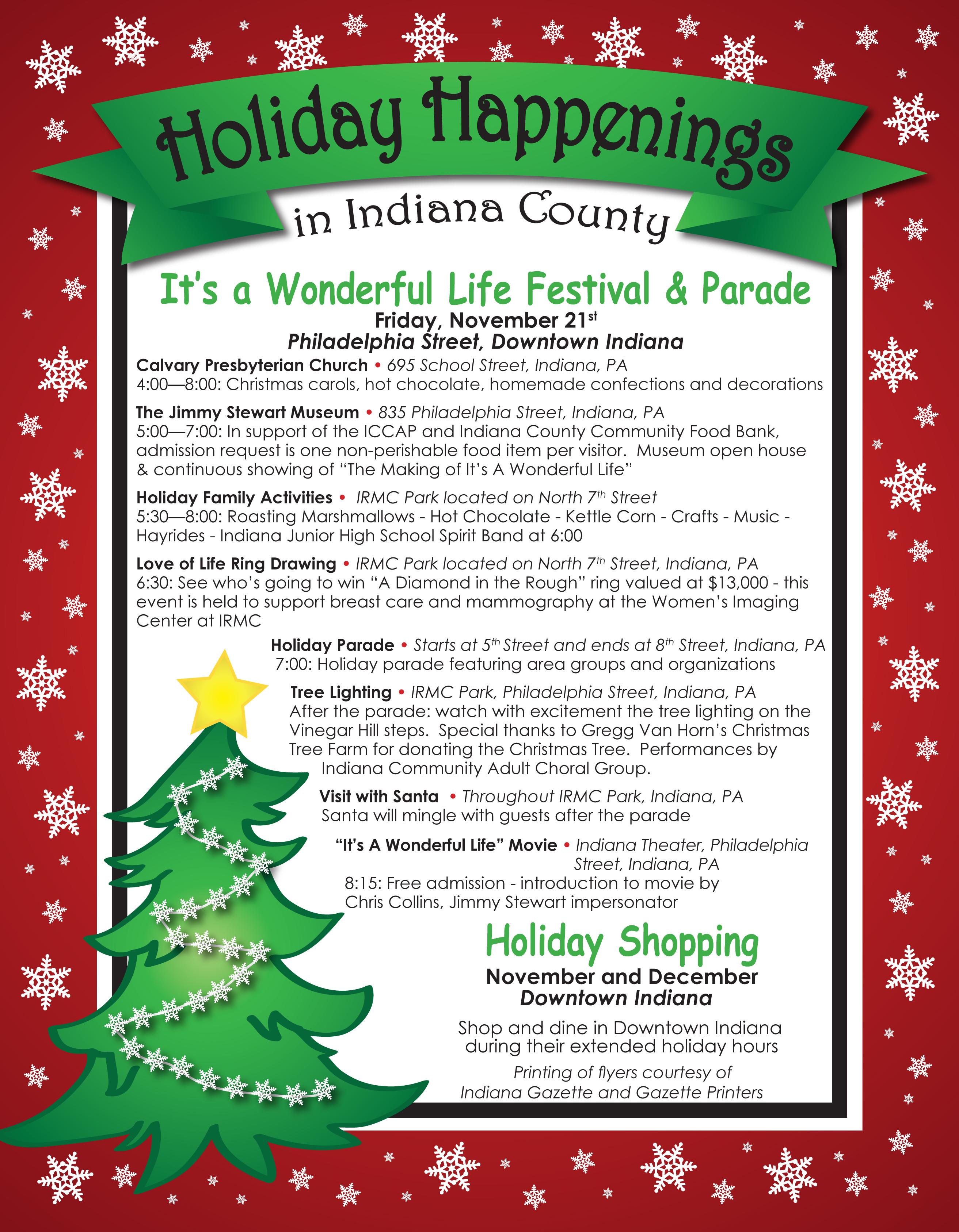 2014 Holiday Happenings — Indiana County Tourist Bureau