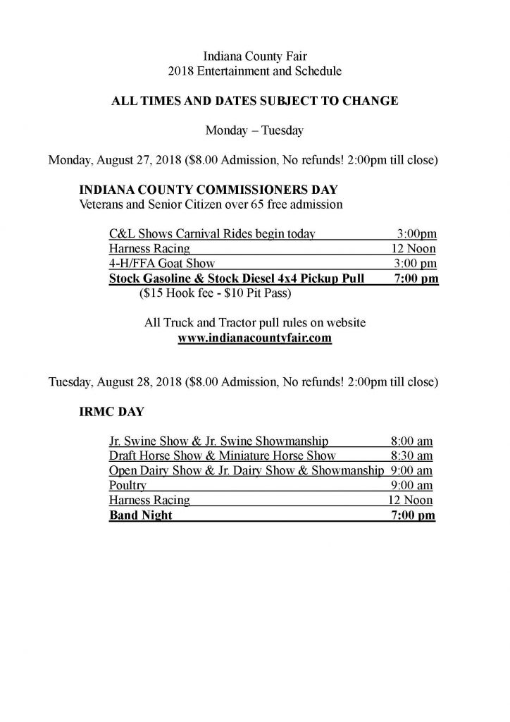 Event Details— Indiana County Tourist Bureau